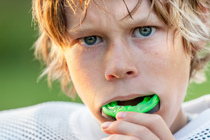 The most important piece of sporting equipment, a professionally made mouthguard.