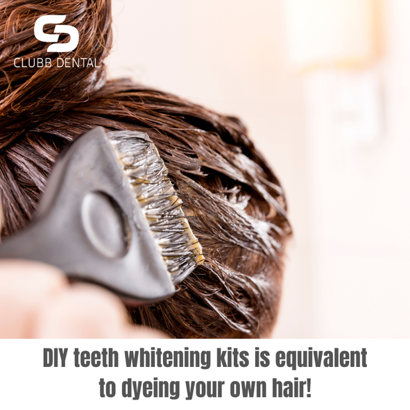 DIY teeth whitening kits is equivalent to dyeing your own hair!